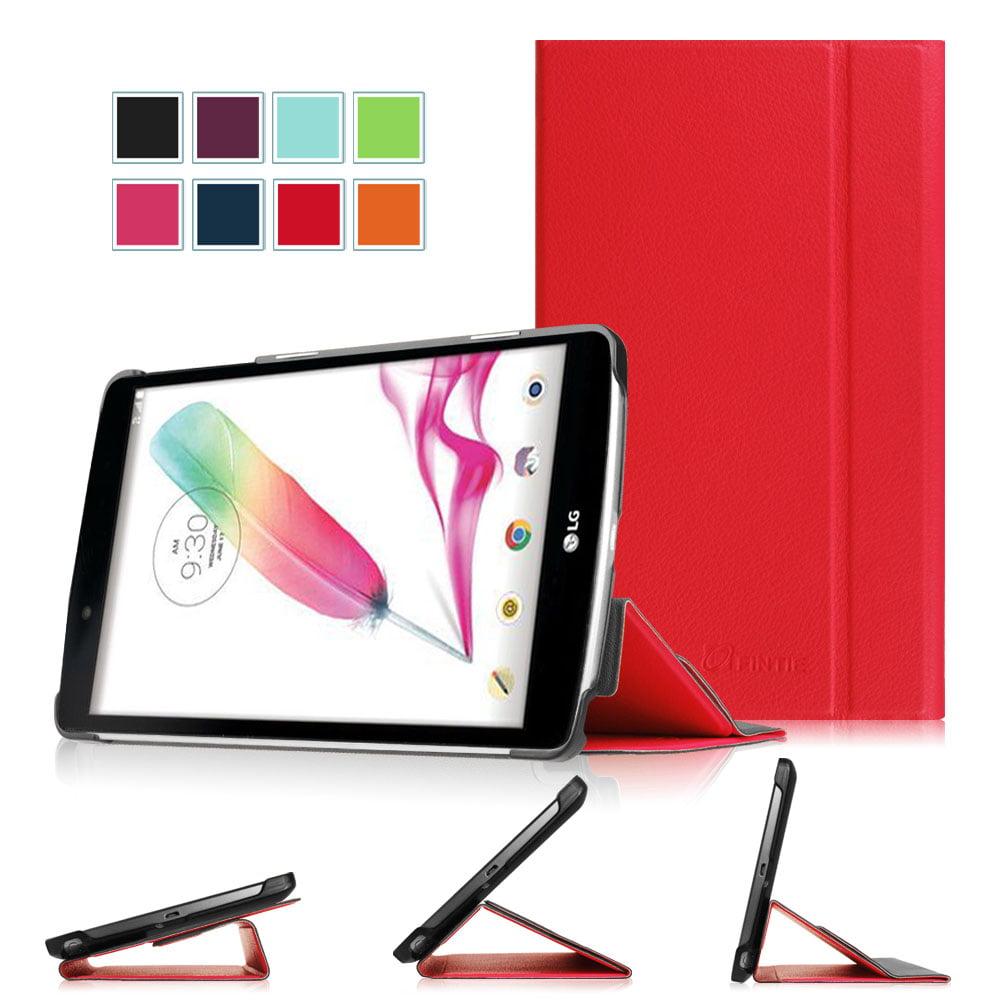 Fintie Smart Book Case for LG G Pad F 8.0 AT&T V495 /T-Mobile V496 /US Cellular UK495 Case - Multi-Angles Cover, Red