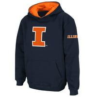 ed0be7ced Product Image Illinois Fighting Illini Stadium Athletic Youth Big Logo Pullover  Hoodie - Navy