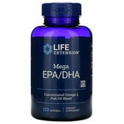Life Extension Omega Foundations Mega EPA/DHA (Molecularly Distilled) - 120 Softgels