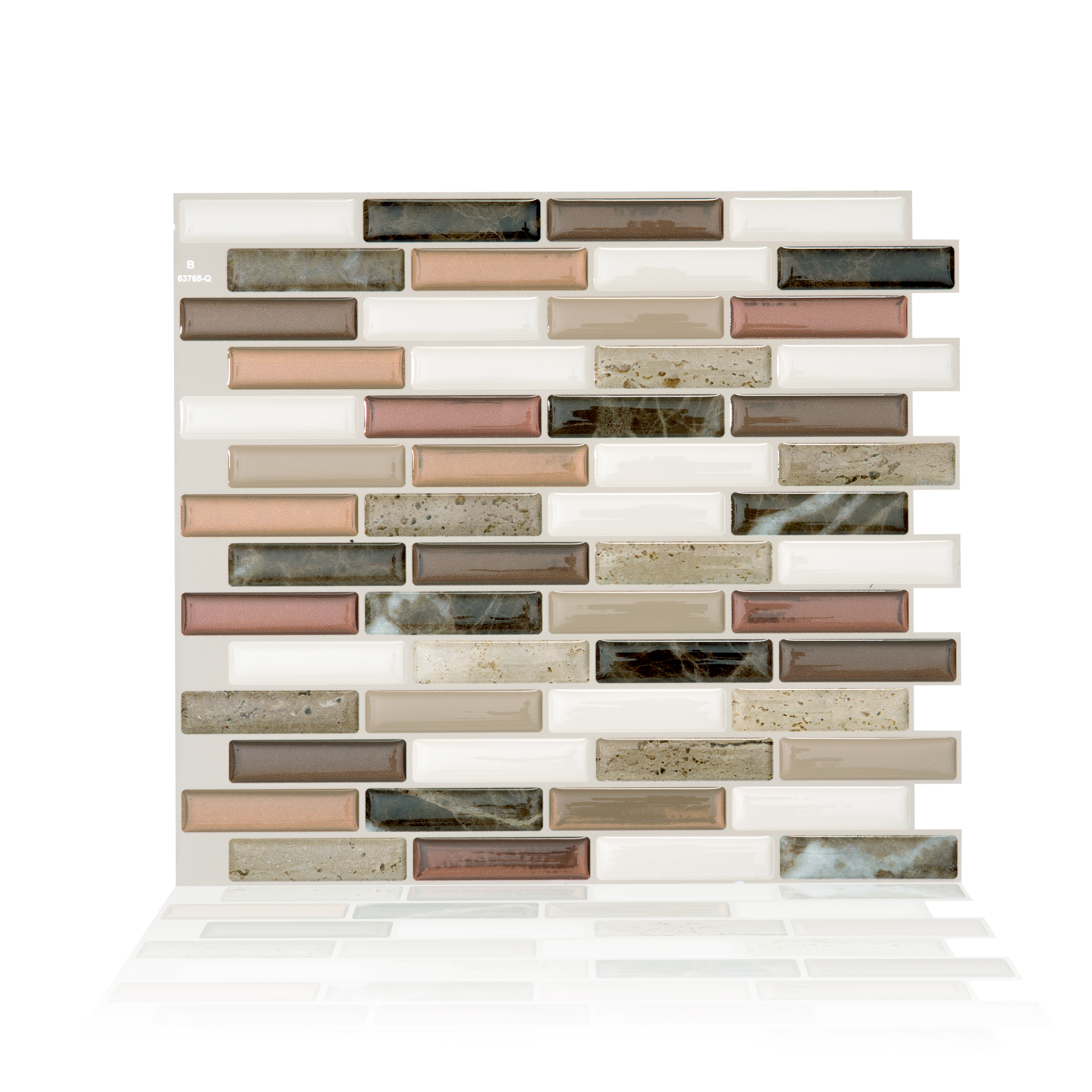 Smart Tiles 10.20 in x 9 in Peel and Stick Self-Adhesive Mosaic Backsplash Wall Tile - Milenza Taddio (each)