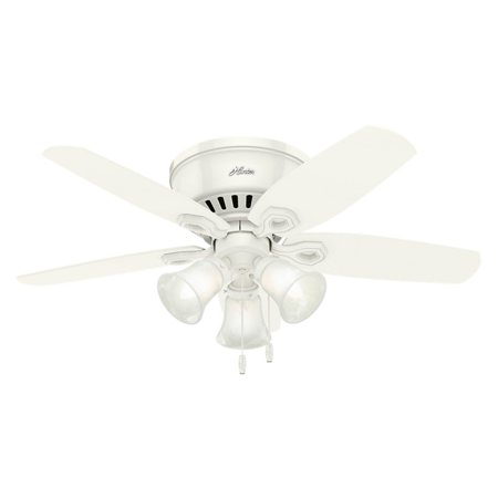 Hunter 42 builder low profile snow white ceiling fan with light hunter 42 builder low profile snow white ceiling fan with light mozeypictures Image collections