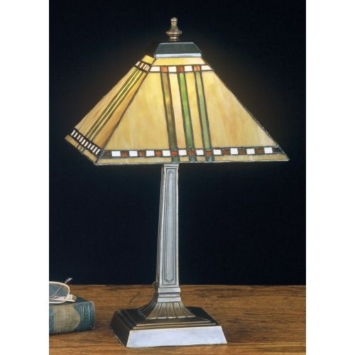 Meyda Tiffany 26509 Stained Glass / Tiffany Accent Table Lamp from the Prairie C