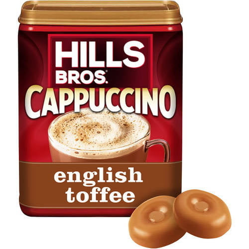 (2 Pack) Hills Bros. English Toffee Cappuccino Instant Coffee Mix, 16 Ounce Canister