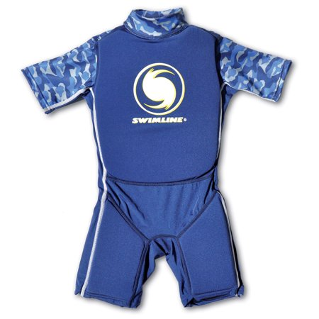 Paddling Suit - Swimline Blue Lycra Boy's Floating Swim Trainer Wet Suit Life Vest Small 9892B