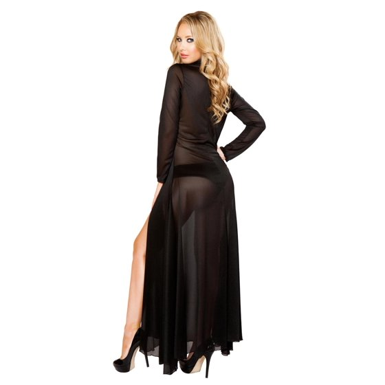435885956fa Roma - Sexy Long Mesh Robe and Short Lingerie Set - Walmart.com