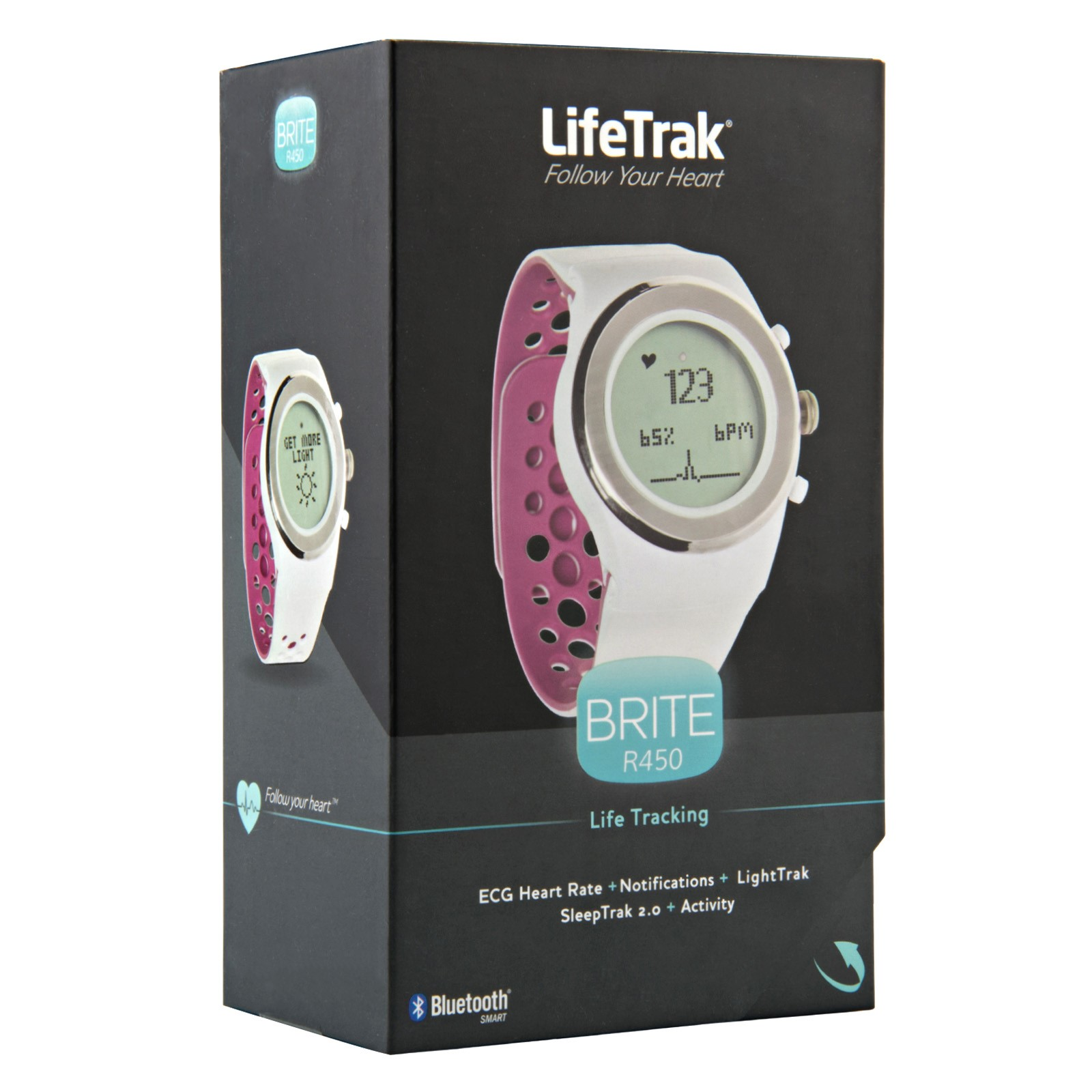 Lifetrak R450 Brite 24 Hour Activity Tracker White Orchid Walmart Com Walmart Com