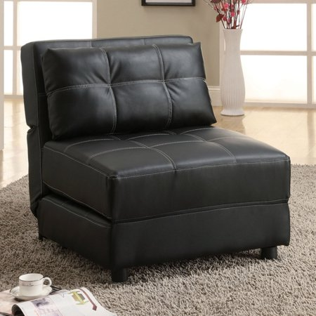 Coaster Company Accent Chair, Black (Leatherette Accent)