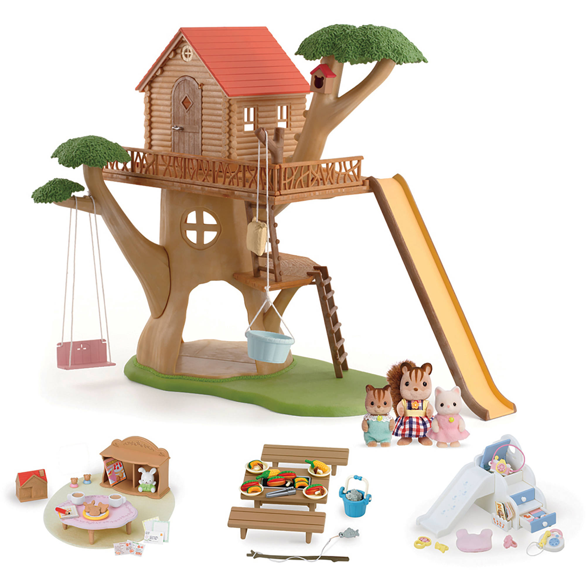 Picture of: Calico Critters Adventure Tree House Gift Set Walmart Com Walmart Com