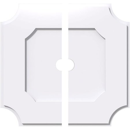 Ekena Millwork CMP30LE2-03000 30 in. OD x 3 in. ID Square Locke Architectural Grade PVC Contemporary Ceiling Medallion - 2 Piece - image 1 of 1