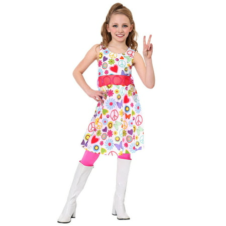 Peace And Love Hippie Costume (Girl's Peace & Love Hippie)