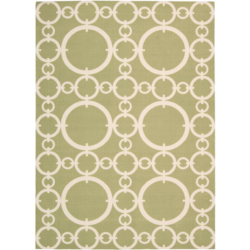 Nourison Waverly Sun N' Shade Polyester Indoor/Outdoor Rug, Citrine