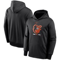Baltimore Orioles Nike Youth Fleece Performance Pullover Hoodie - Black