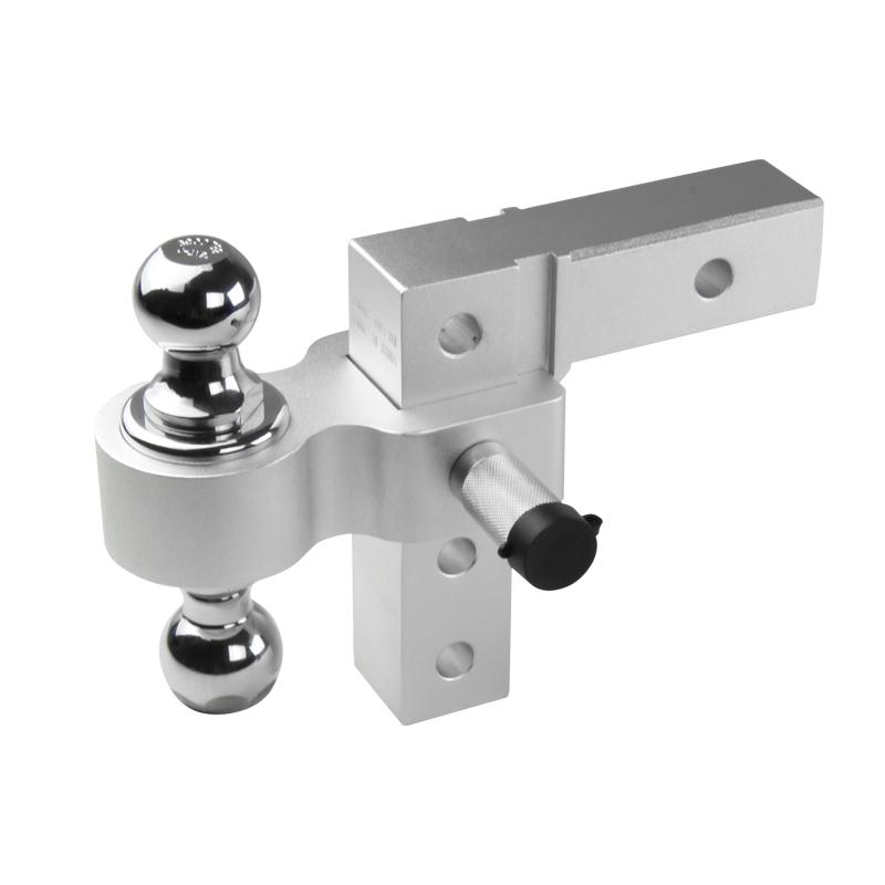 "2"" Reveiver Raise Drop Adjustable Aluminum Hitch Dual Ball Mount Tow Hook by Spec-D Tuning"