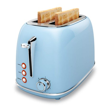 2 Slice Toaster with Bagel, Cancel, Defrost Function and 6 Bread Shade Settings Bread Toaster, Extra Wide Slot and Removable Crumb Tray Stainless Steel