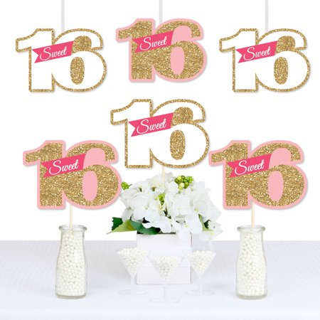 Sweet 16 - Decorations DIY 16th Birthday Party Essentials - Set of 20 - 16 Sweet