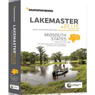 Humminbird 600009-6 Lakemaster+ Maps, Mid-South (Humminbird Map)