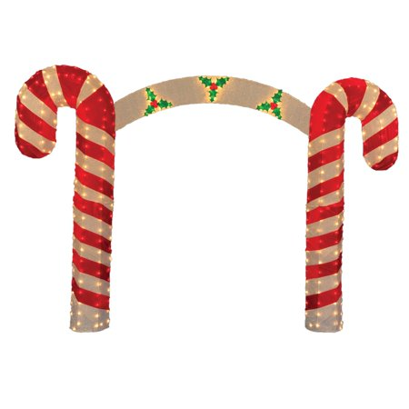 10 pre lit candy cane christmas archway yard art decoration clear lights