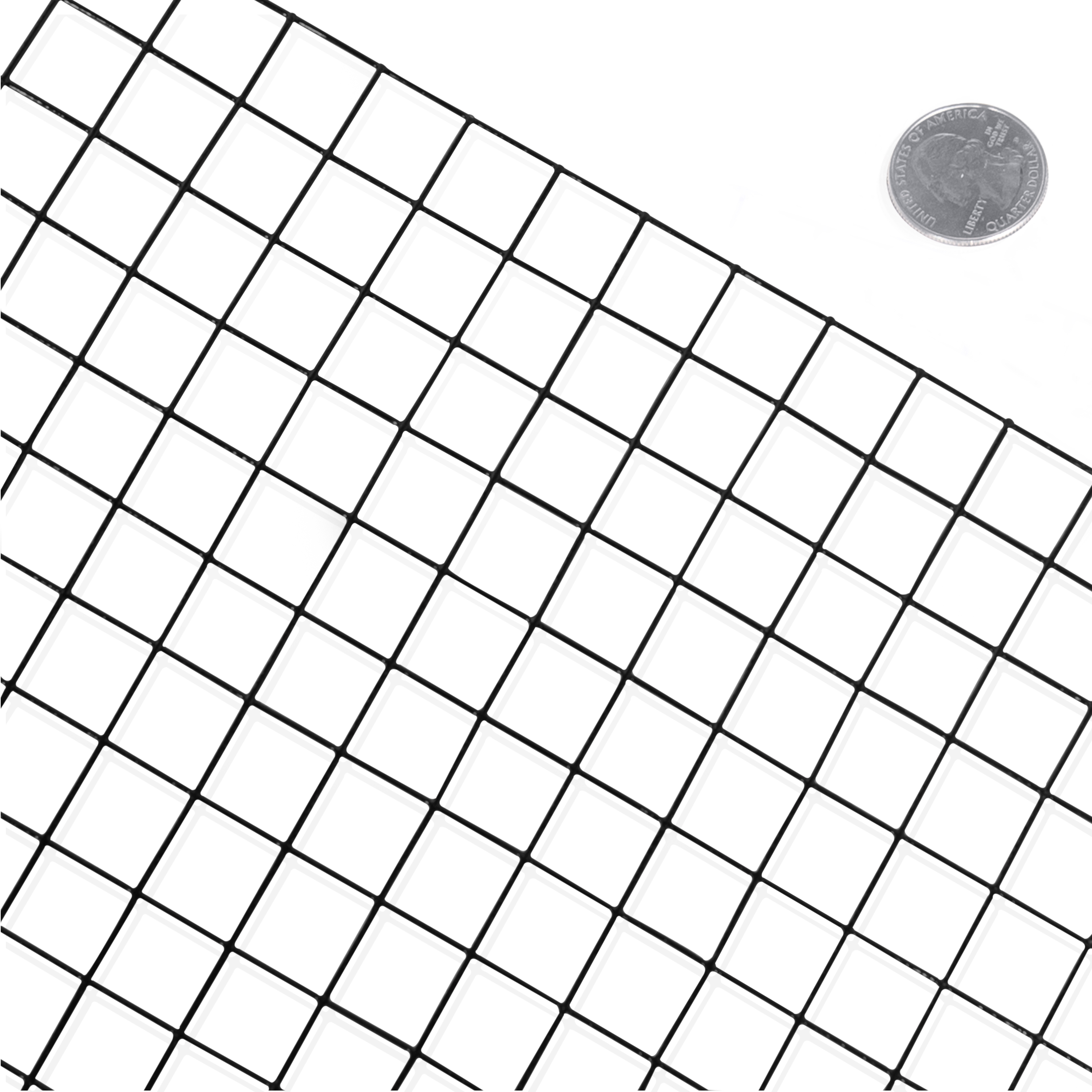 Fencer Wire 16 Gauge Black Vinyl Coated Welded Wire Mesh Size 1 inch by 1 inch (2 ft. x 100 ft.)