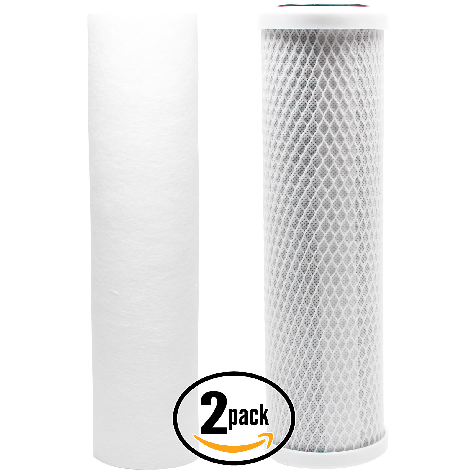 2-Pack Replacement Filter Kit for Glacier Bay HDGUSS4 RO System - Includes Carbon Block Filter & PP Sediment Filter - Denali Pure Brand