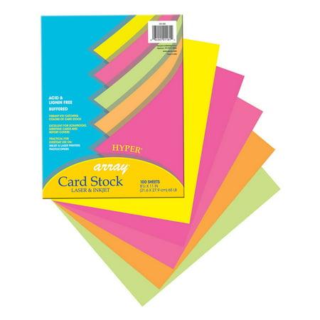 Pacon Array® Card Stock, 65 lb., Hyper Colors, 100