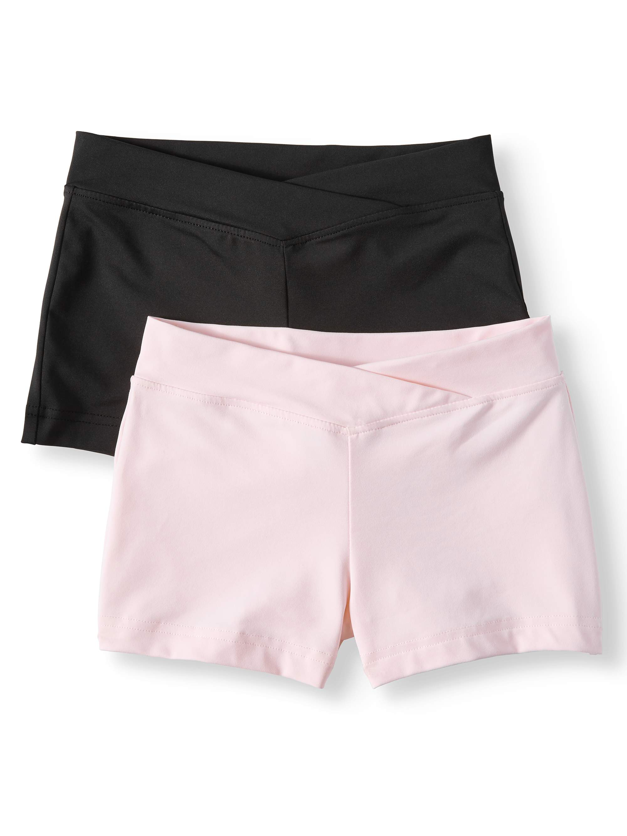 Danskin Now Girl's Premium Nylon dance short- 2 pack