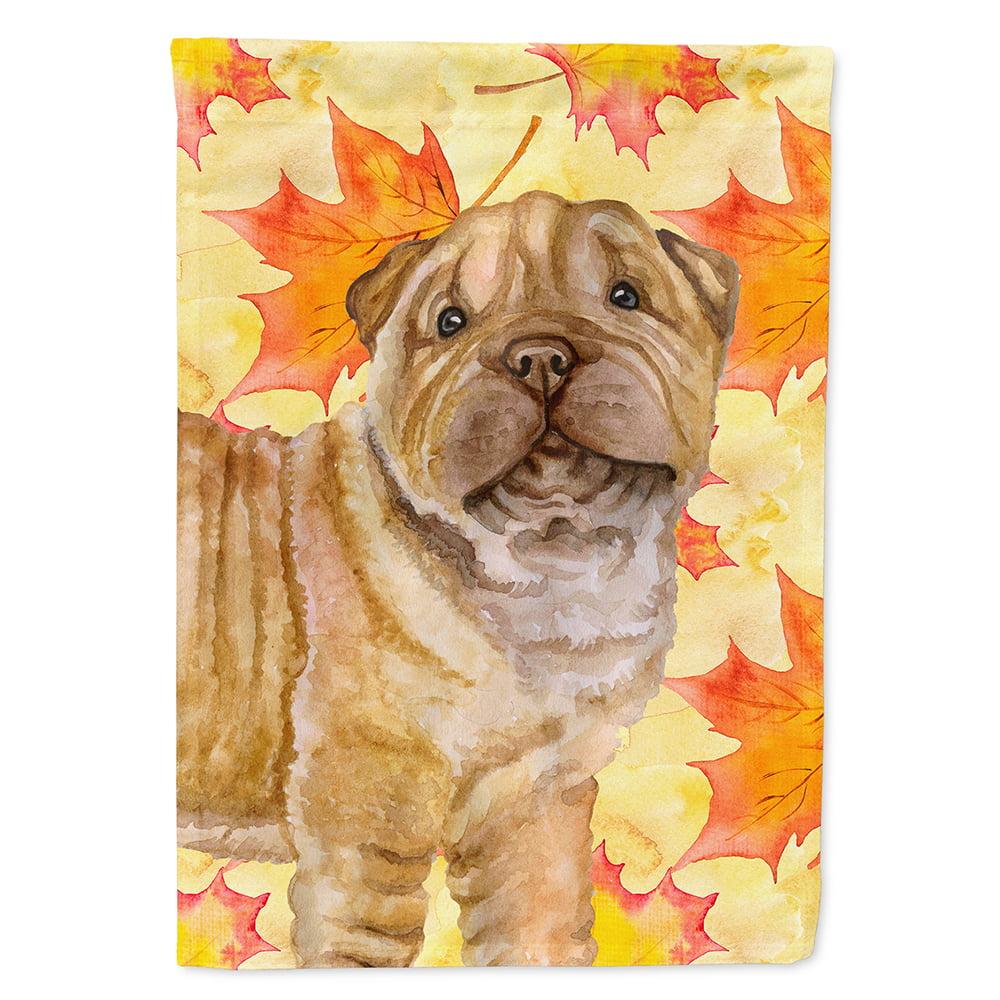 Pei Rating: Shar Pei Puppy Fall Garden Flag