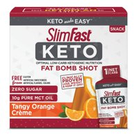 SlimFast Keto Fat Bomb Shot, Tangy Orange Crme, 10 fl. oz, Pack of 10