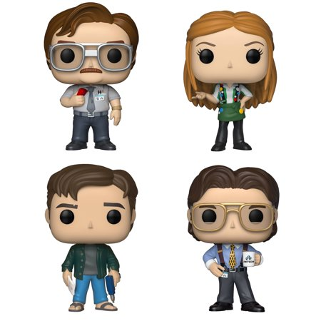 Funko POP! Movies Office Space Collectors Set - Milton Waddams, Joanna with Flair, Peter Gibbons, Bill Lumbergh (Office Pod)