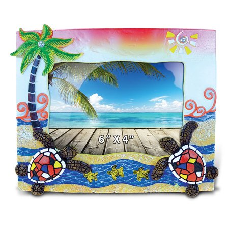 Nautical Photo Frame Sea Turtles Mosaic Photo Frame 4