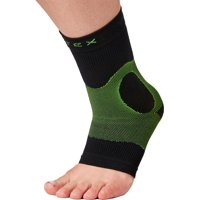 P-TEX Knit Compression Ankle Sleeve Black/Green L