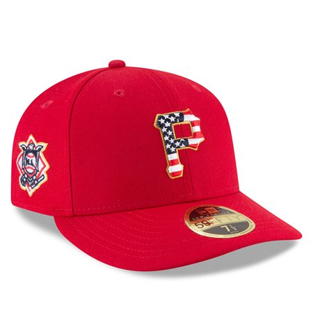 Pittsburgh Pirates New Era 2018 Stars   Stripes 4th of July On-Field Low  Profile 59FIFTY Fitted Hat - Red - Walmart.com 56306872ba7