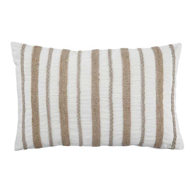 Ashley Zackery Throw Pillow in Natural (Set of 4) by Ashley Furniture