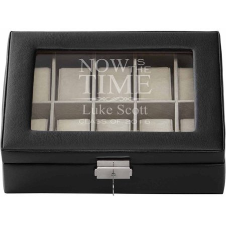 Personalized Now is the Time Watch Box, Available in 2 Colors ()