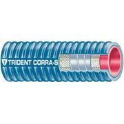 "Trident Blue ""VHT"" Corrugated Silicone Wet Exhaust Marine Hose"