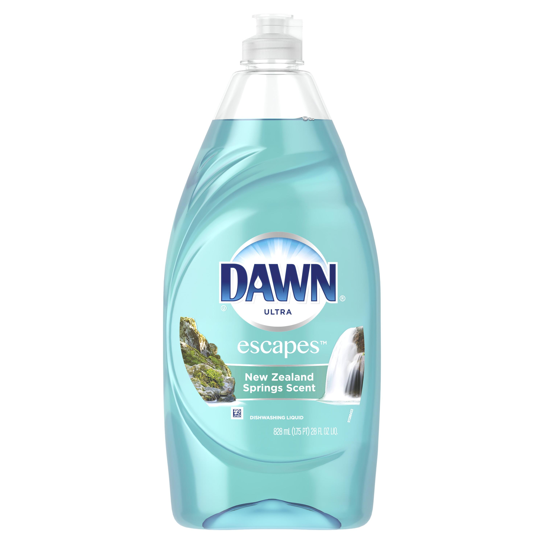 Dawn Escapes Dishwashing Liquid Dish Soap New Zealand Springs 28 oz