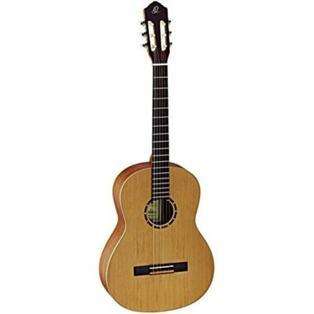 Ortega Guitars R122SN Family Series Slim Neck Nylon 6-String Guitar with Cedar Top, Mahogany Body, Satin Finish (Guitar Neck Scales)