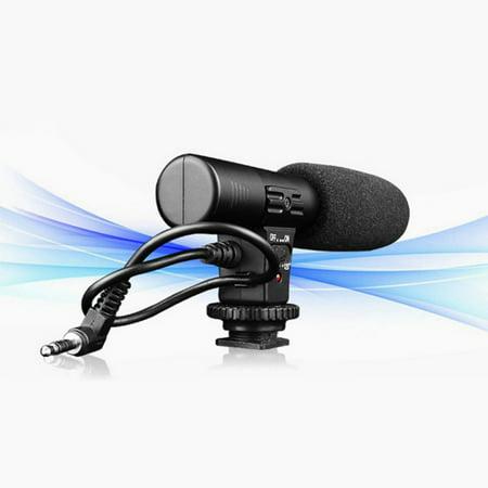 Professional Mic-01 3.5mm Digital Video DV Camera Studio Stereo Shotgun Recording MIC Microphone