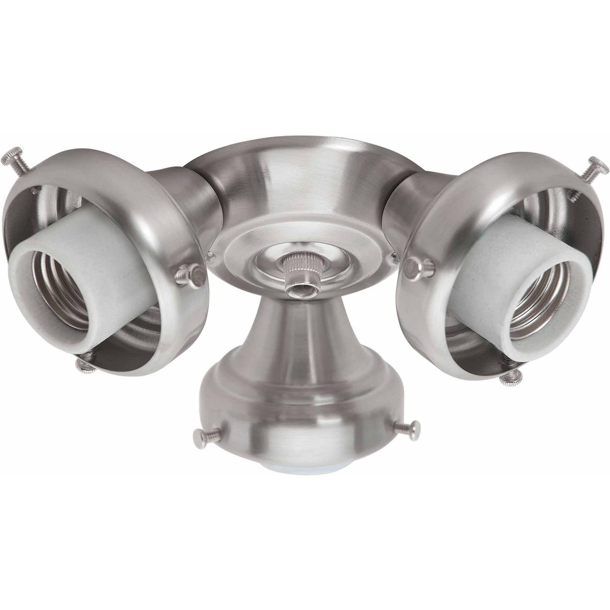 Hunter Fan Company 99136 3 Light Fitter, Brushed Nickel