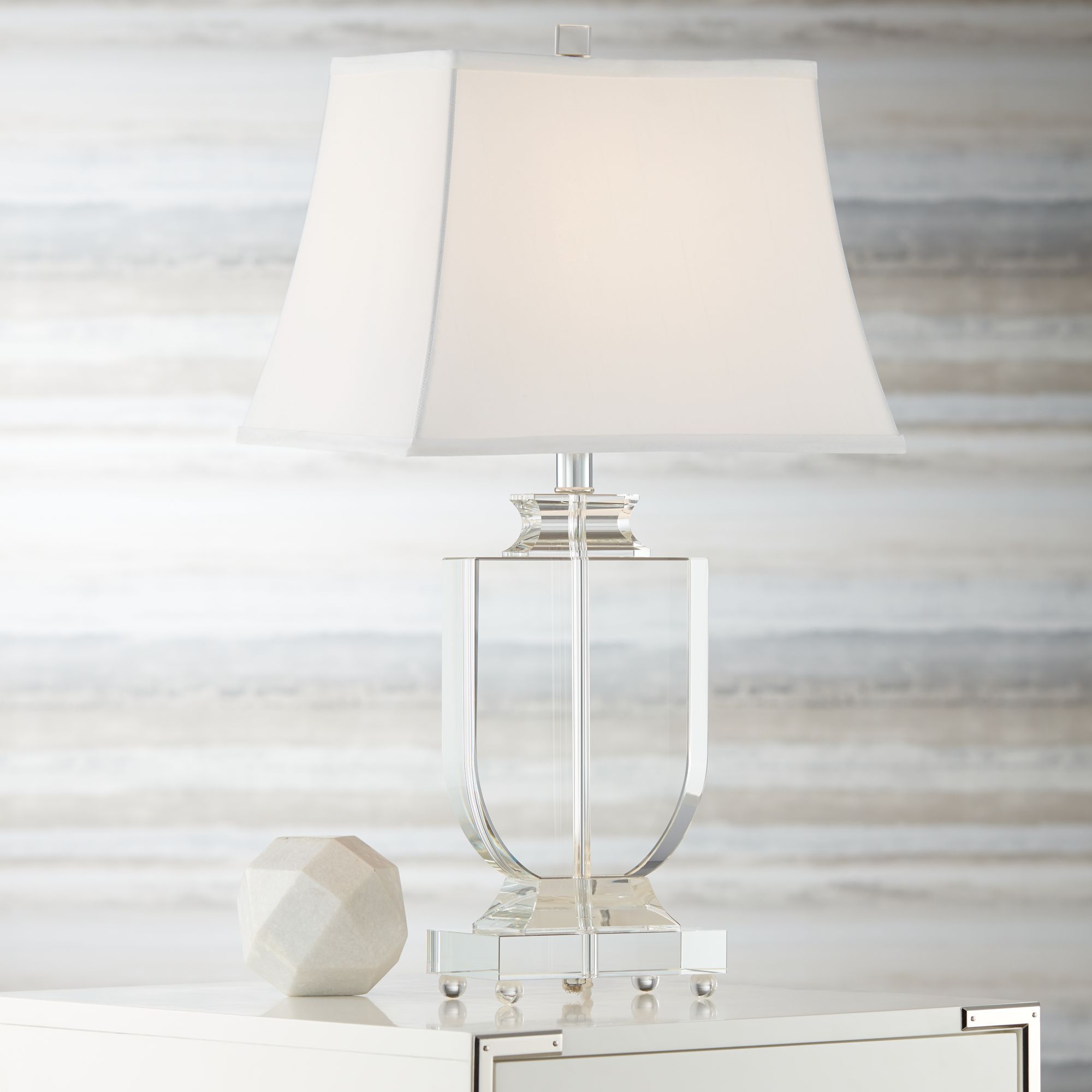 vienna full spectrum traditional table lamp clear crystal