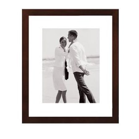 5x7/8x10 Picture Frame LINEAR WALL - Matted Dark Walnut ()