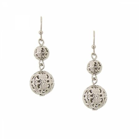 1928 Jewelry Cirque Silver-Toned Globe Earrings