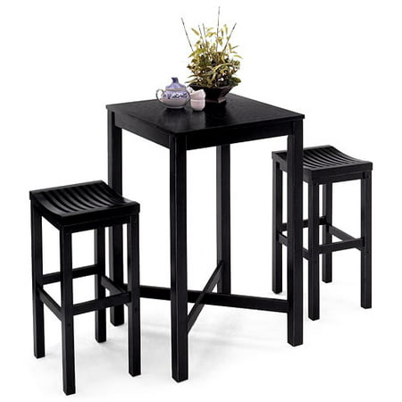 Home Styles Black Solid Wood Pub Table. Home Styles Black Solid Wood Pub Table   Walmart com