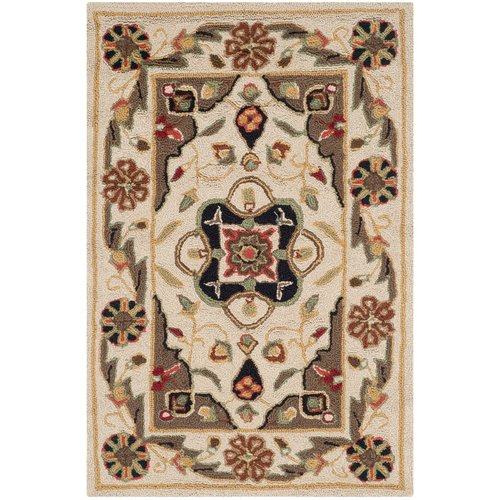 Charlton Home Bryonhall Hand-Hooked Area Rug