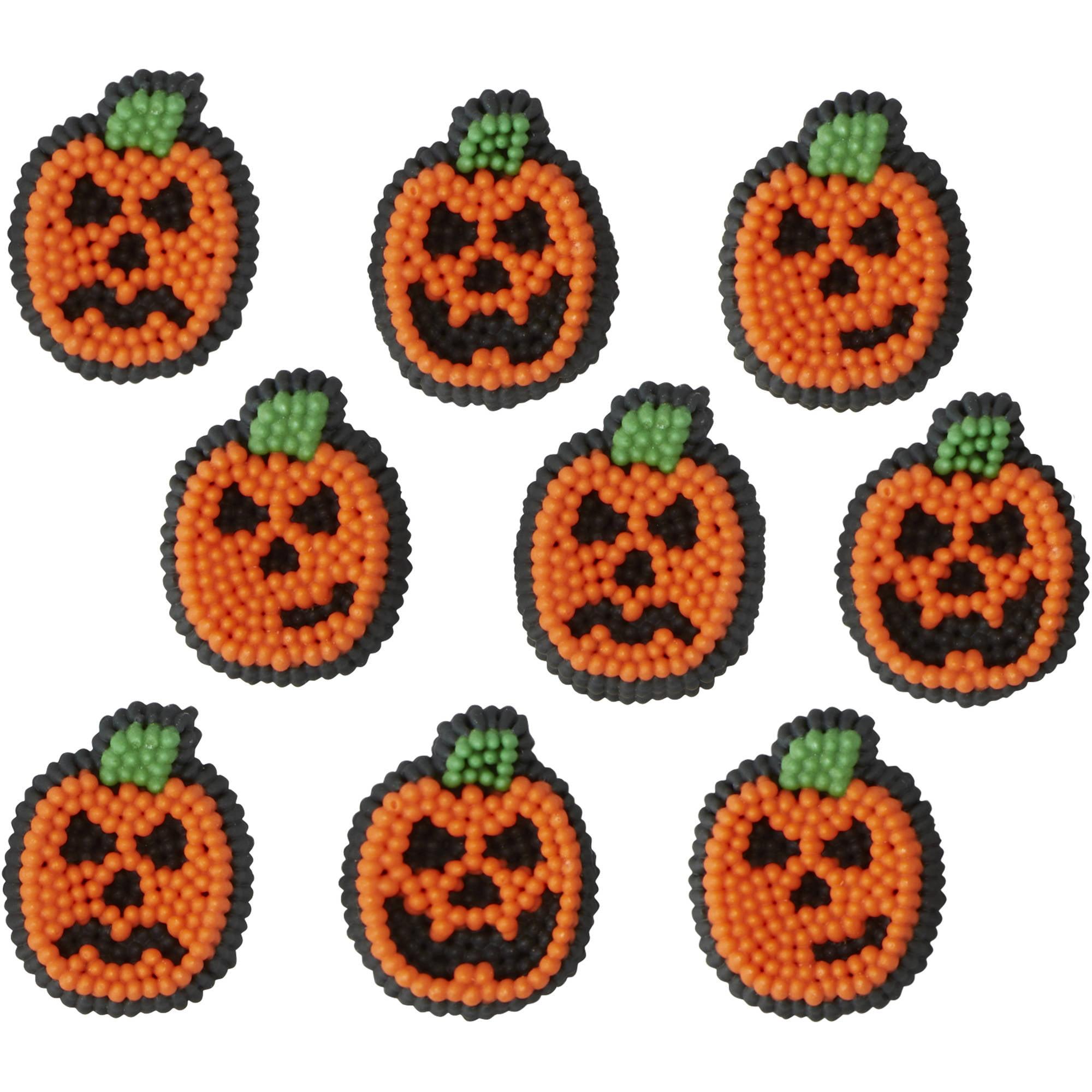 Wilton Halloween Pumpkin Icing Decorations, 710-6026