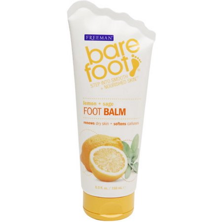 Foot Balm 2 Oz Tin - 2 Pack - Freeman Bare Foot Revitalizing Foot Balm Lemon & Sage 5.30 oz