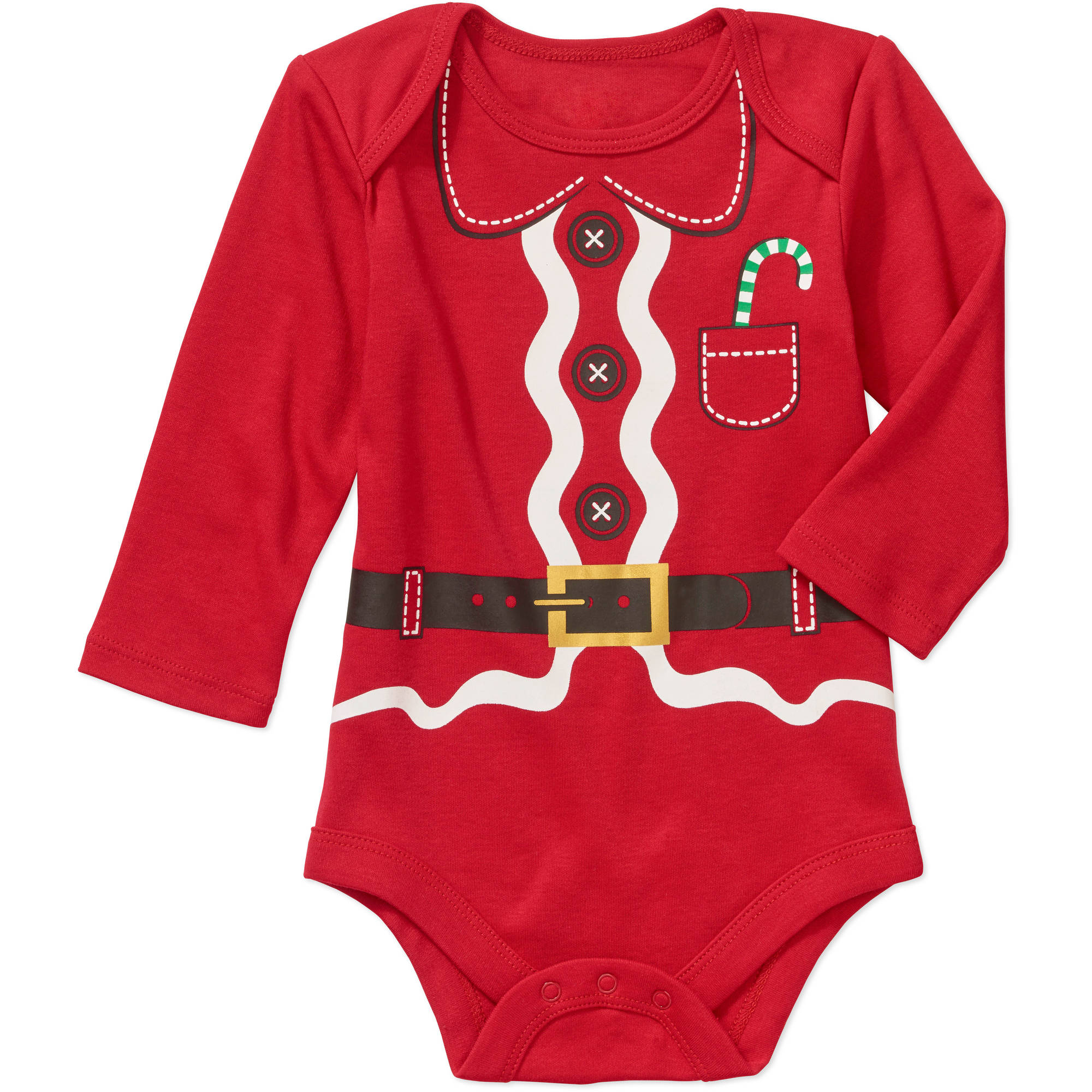 Christmas Newborn Baby Boy Up All Night and Santa Suit Seasonal Bodysuit 2 pack