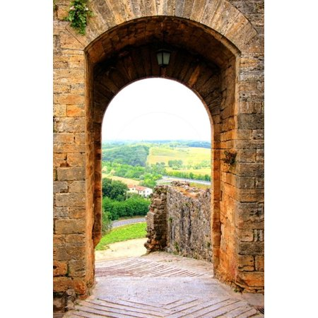 Ancient Fortifications of Tuscany Print Wall Art By Jeni Foto (Foto Polarisiert)