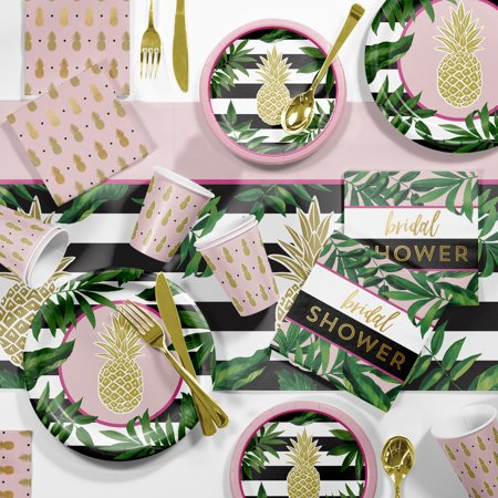 Large Golden Pineapple Bridal Shower Party Supplies Kit