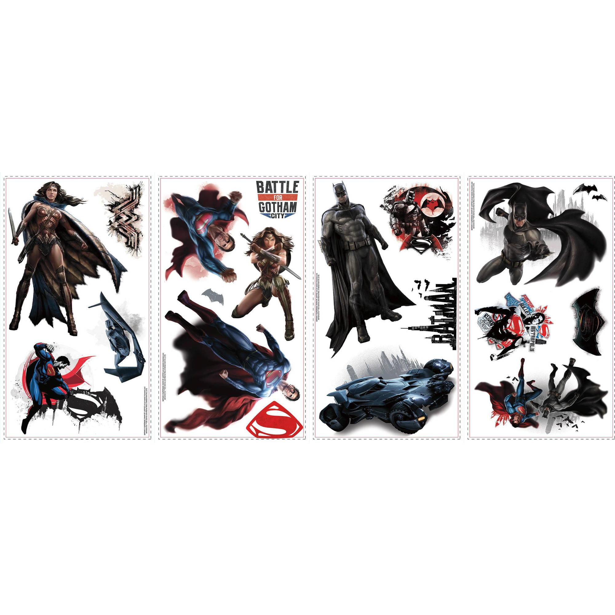 Roommates batman vs superman peel and stick wall decals walmart amipublicfo Choice Image