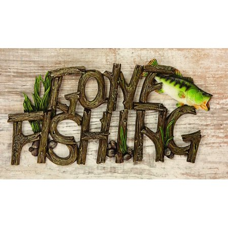 GONE FISHING WALL PLAQUE